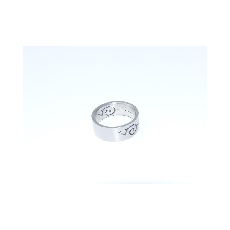 Prsten ocelový motiv Šnek