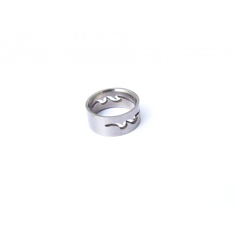 Prsten ocelový s motivem Had