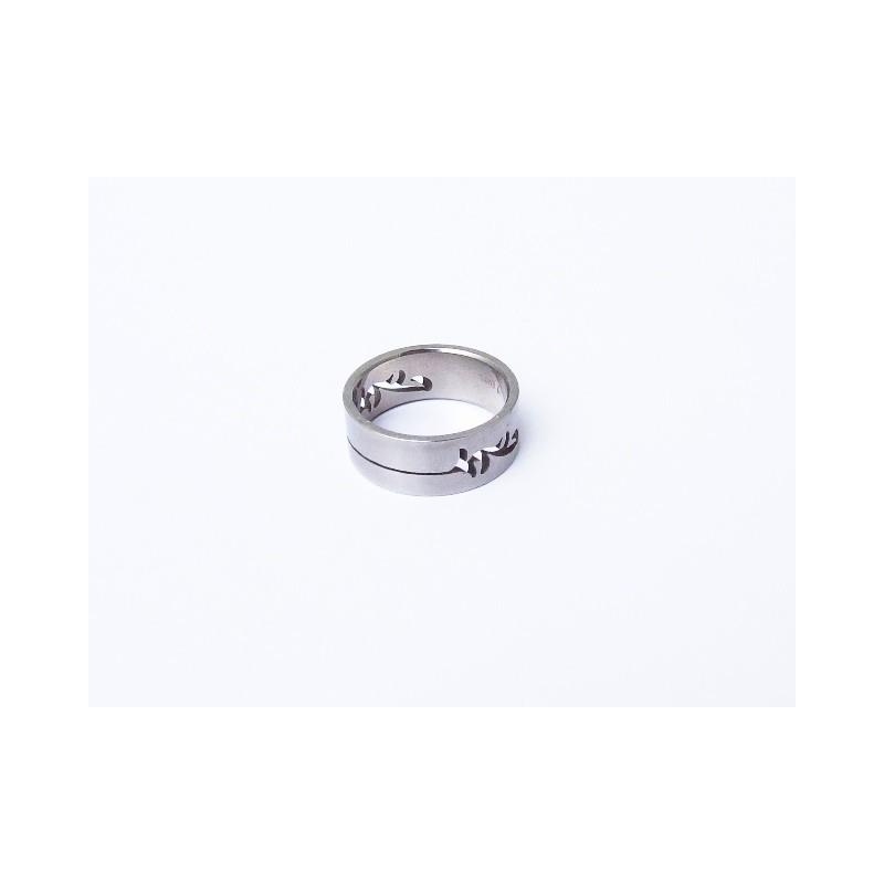 Ocelový unisex prstýnek