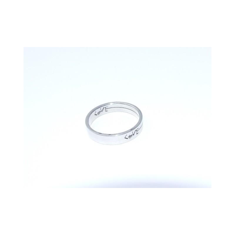 Ocelový prsten Love