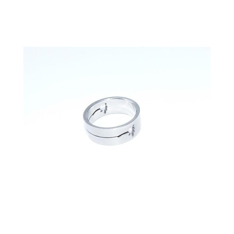 Prsten ocelový Květina