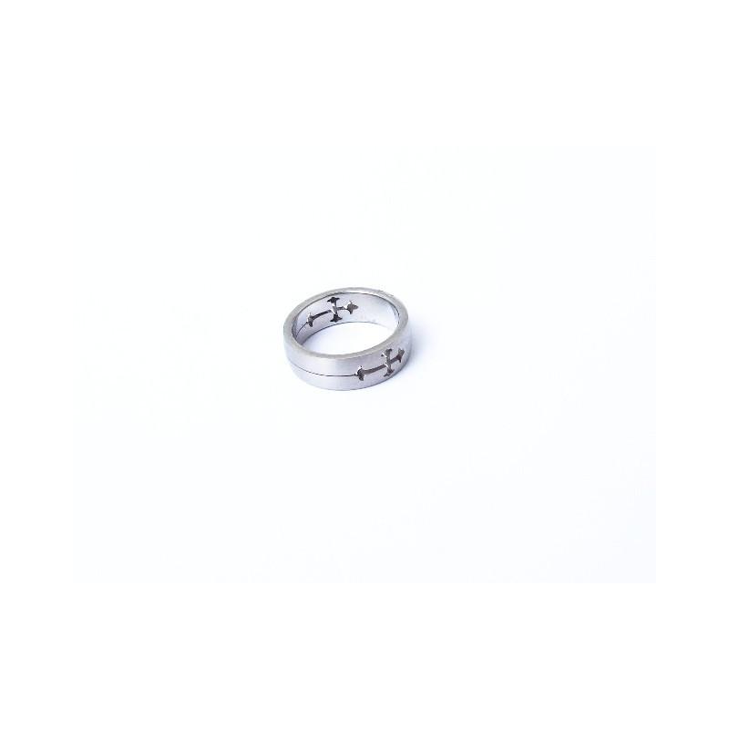 Prsten ocelový s křízkem