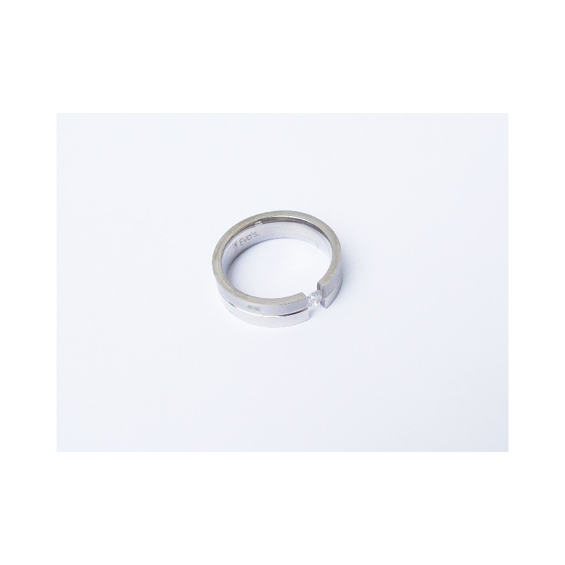 Prsten lesklá chirurgická ocel s kamínkem