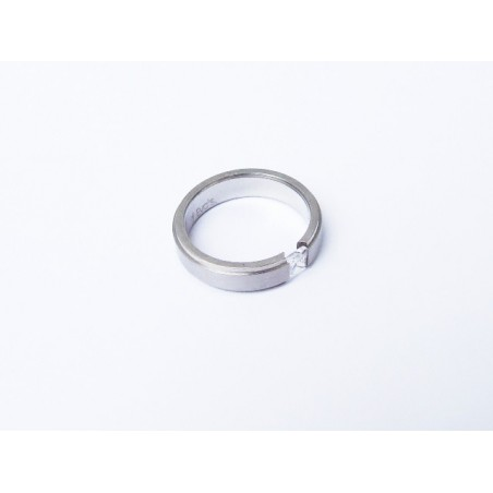 Ring mit weißem Zirkon