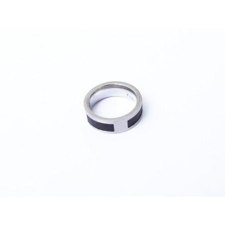 Prsten ocel s kůží