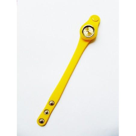 Żółty zegarek silikonowy