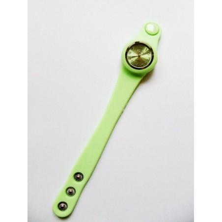 Ceas silicon verde