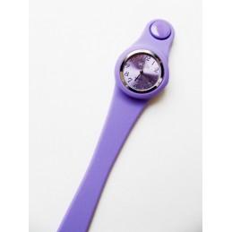 Kulaté fialové hodinky