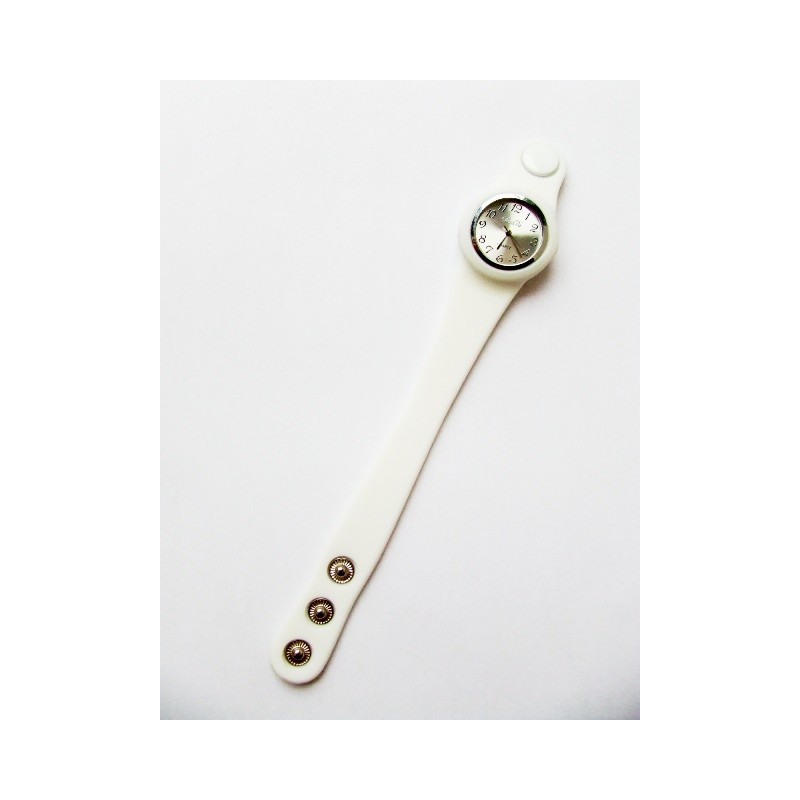 Bílé hodinky ze silikonu