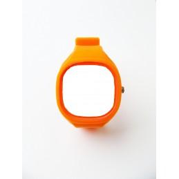 Silikonový řemínek Jelly Square oranžový
