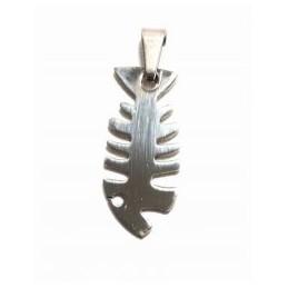 Ocelový přívěsek na krk motiv Fishbone