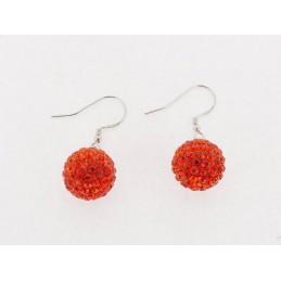 Červený set šperků Swarovski Crystals