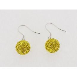 Žlutý set šperků Swarovski Elements
