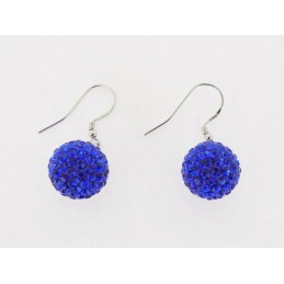 Modrý set šperků kuličky Swarovski Elements