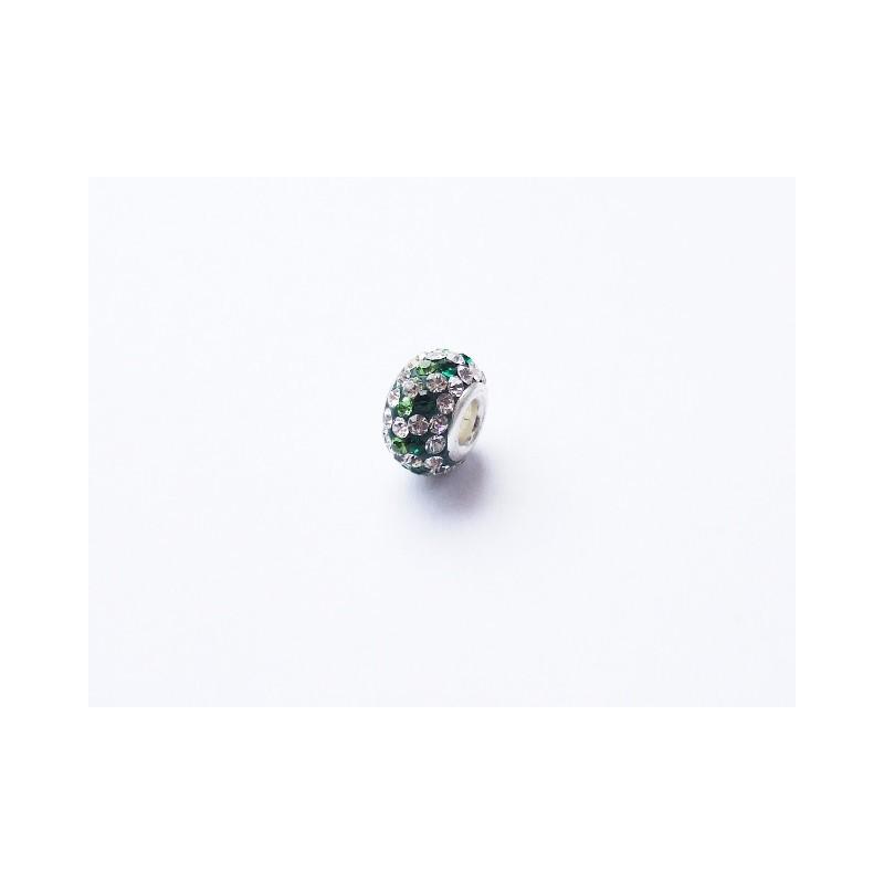 Přívěsek korálek zelený Swarovski Crystals