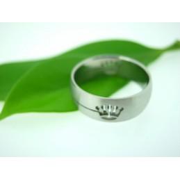 Ring aus chirurgischem Stahl Krone