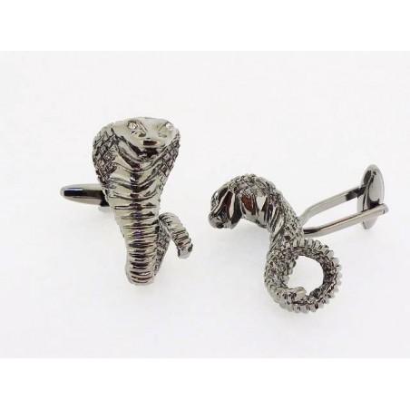 Spinki do mankietów kobra