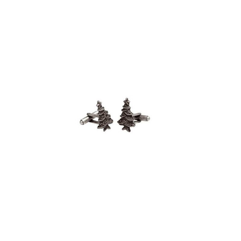 Manžetové knoflíčky vánoční stromek