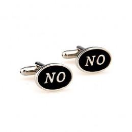Manžetové knoflíčky s nápisem NO