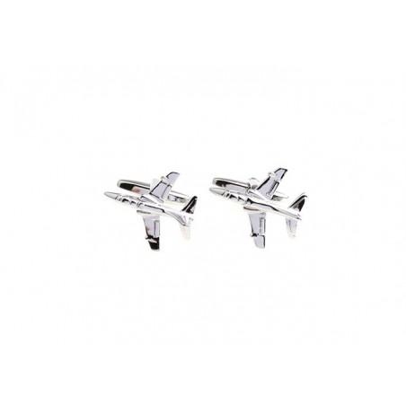 Spinki do mankietów samolot  wojskowy albatros, samolot ćwiczeniowy