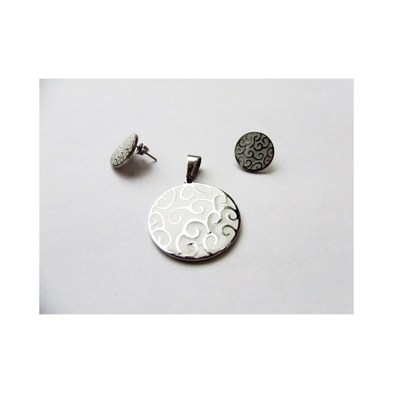 Souprava šperky přívěsek a náušnice kolečko