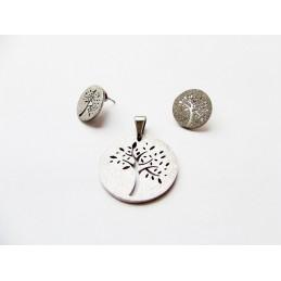 Souprava šperky přívěsek a náušnice perleť