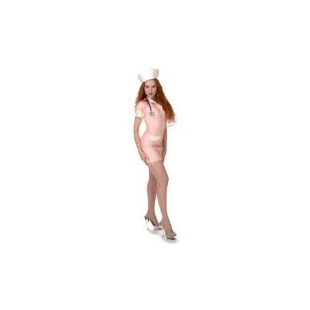 Růžová latexová uniforma