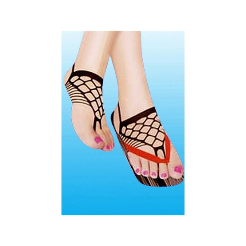 Síťovaná ozdoba na nohy sexy ponožka