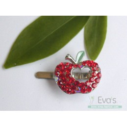 Bižuterie vlásenka jablíčko červené