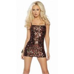 Fényes flitter mini ruha