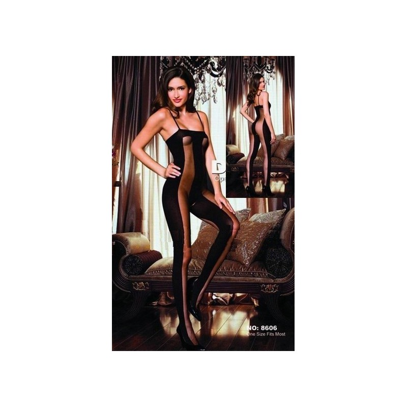 Halbtransparente Bodystocking