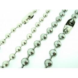 Náhrdelní bižuterie - kovové kuličky
