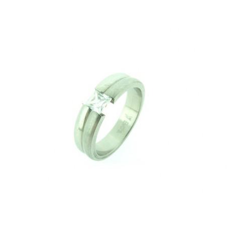 Chirurgischer Stahl Ring mit Zirkon