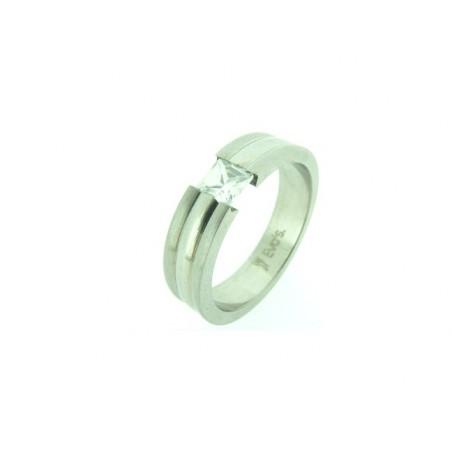 Unisex prsten z oceli s kamínkem