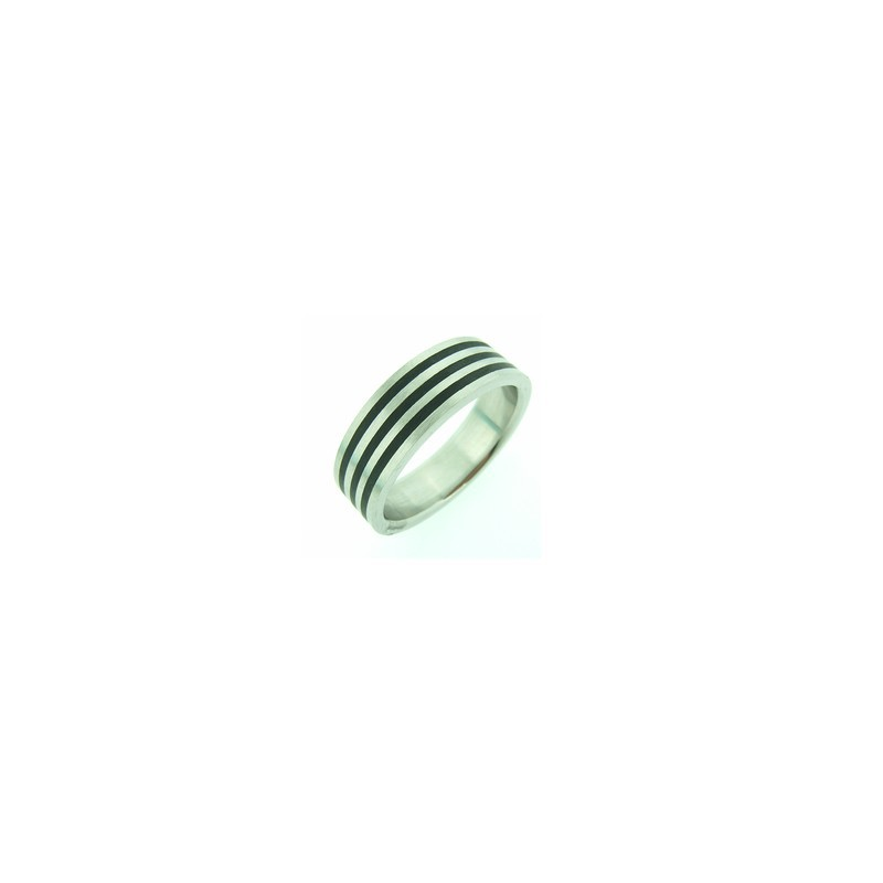Prsten z chirurgické oceli a silikonu