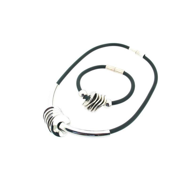 Bižuterie silikonový set náhrdelník a náramek