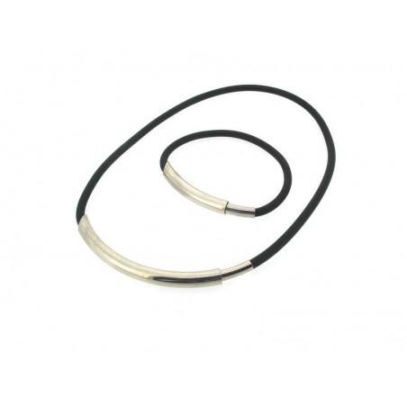 Kautschuk Set  Halskette und Armband