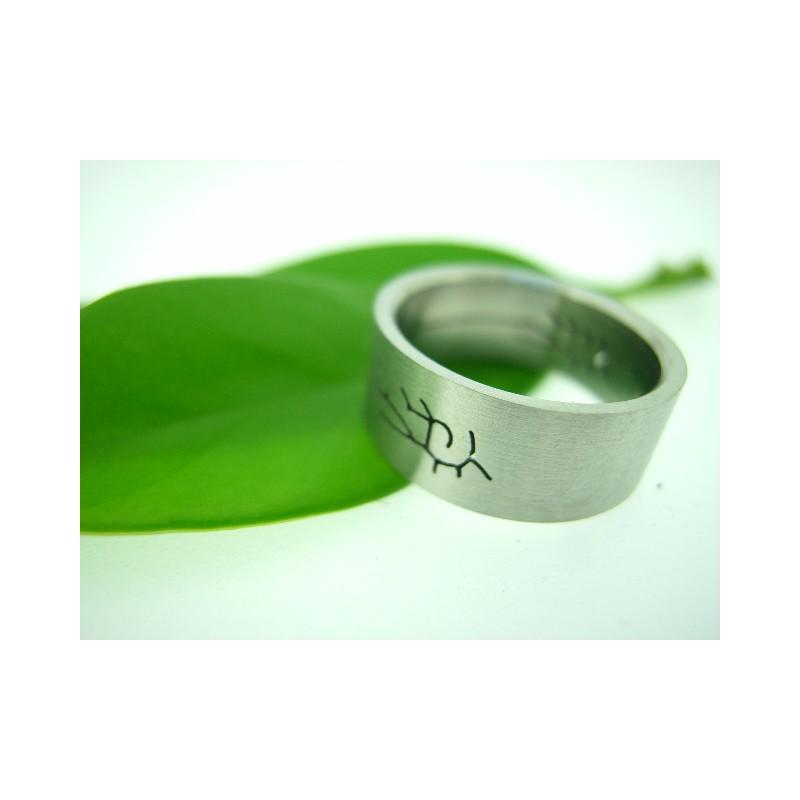 Prsten chirurgická ocel s motivem