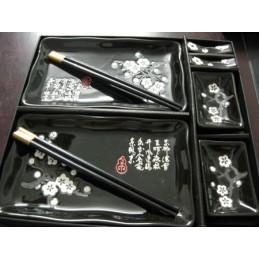 Keramik schwarze Sushi-Set