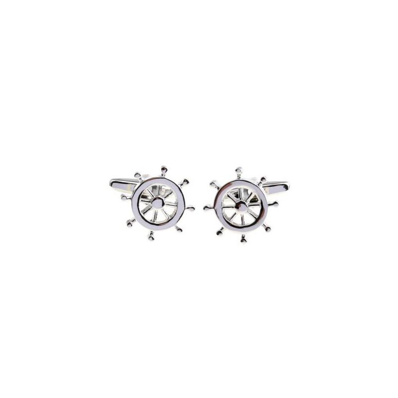 Manžetové gombíky kormidlové koleso