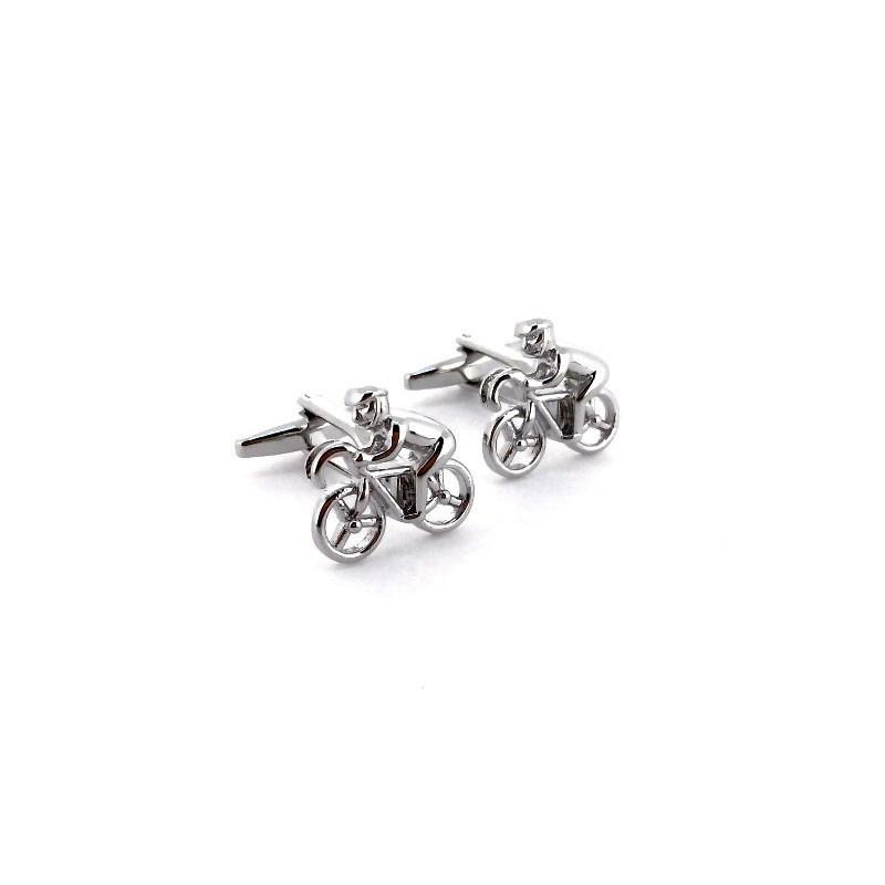 Manžetové knoflíčky z chirurgické oceli Cyklista