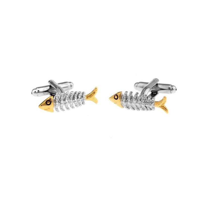 Manžetové knoflíčky rybářské - rybí kostra