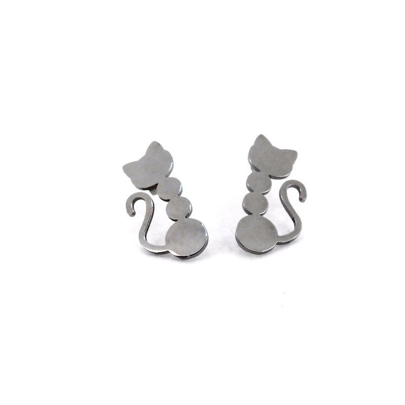 Náušnice ocelové kočička
