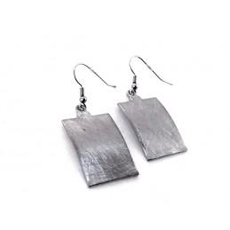 Náušnice bižuterie visací stříbrné