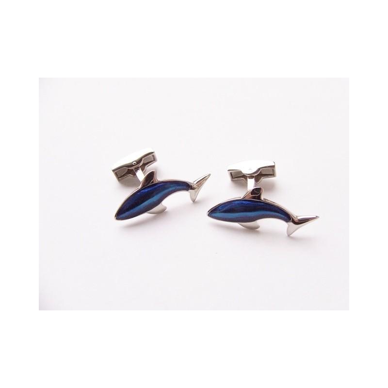 Manžetové gombíky modrý delfín