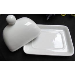Bílá porcelánová máslenka
