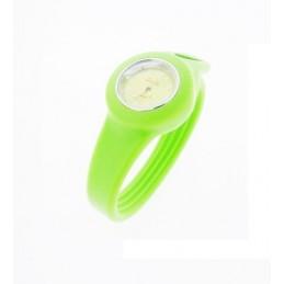 Světle zelené silikonové hodinky