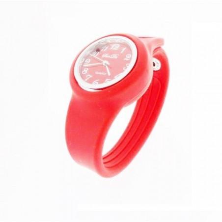 Czerwony zegarek silikonowy