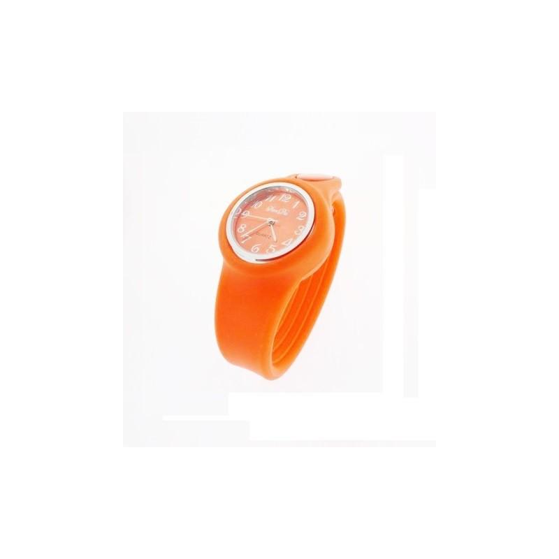 Narancssárga szilikon karóra