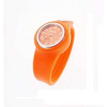 Pomarańczowy silikonowy zegarek